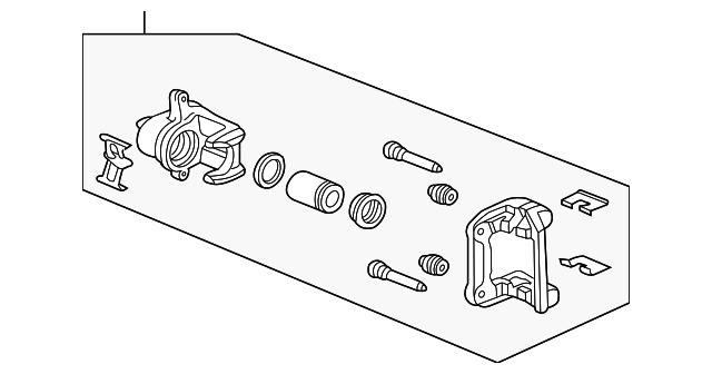 caliper sub assembly l rear honda 43019 sep a00 honda car parts direct. Black Bedroom Furniture Sets. Home Design Ideas