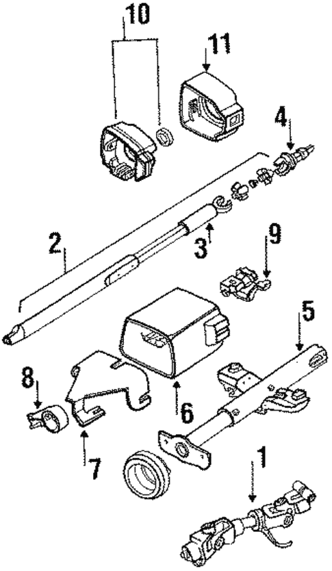 Steering Column Components for 1992 Oldsmobile Cutlass Supreme |  GMPartOnlineGM Parts Online