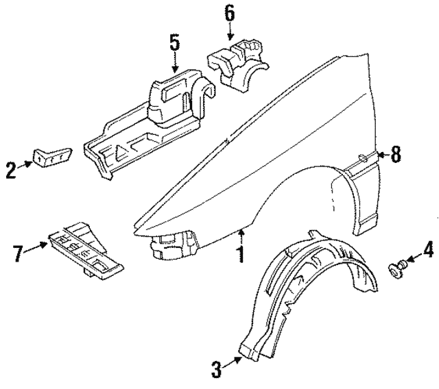 2001 Ford Escort Transmission: Splash Shield - Ford (F7CZ6776AA)