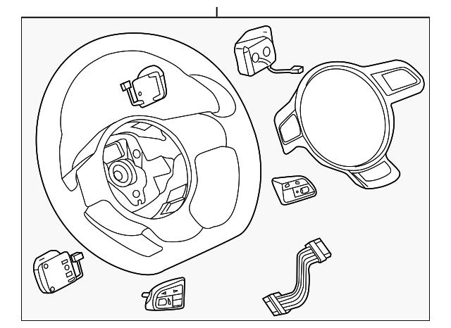 2013 2017 Audi Steering Wheel 8k0 419 091 Ed Inv