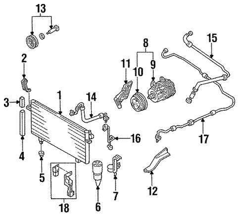 Condenser Compressor Lines For 1996 Infiniti J30
