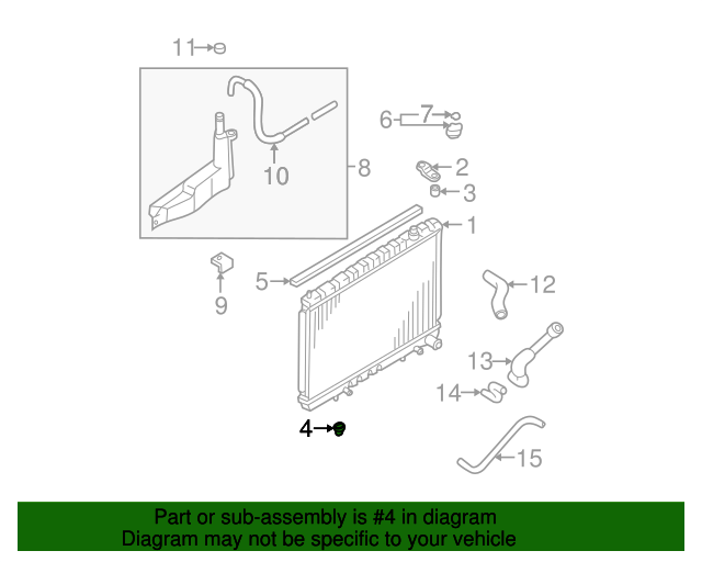 NISSAN OEM-Radiator Assembly Lower Insulator 215084P000