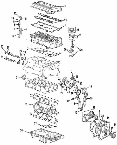 Mounts 2002 Chevrolet Cavalier Oem New Gm Parts