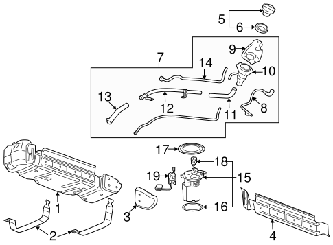 fuel system components for 2007 chevrolet avalanche chevy avalanche fuel system diagram