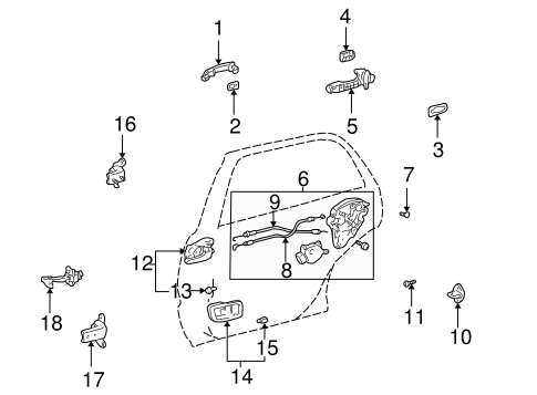 BODY/LOCK & HARDWARE for 2001 Toyota Highlander #3