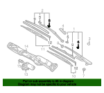 Wiper Arm Guide - BMW (61-61-8-162-982)