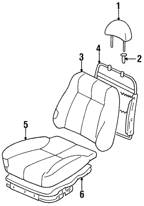 Front Genuine Hyundai 88170-22103-FGR Seat Cushion Cover