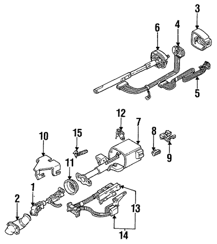 steering column components for 1990 pontiac grand prix