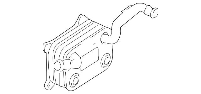 2007 2010 Audi A8 Quattro Oil Cooler 079 117 015 B