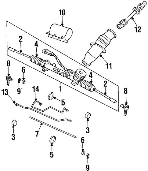 Steering Gear Linkage For 1999 Oldsmobile Aurora
