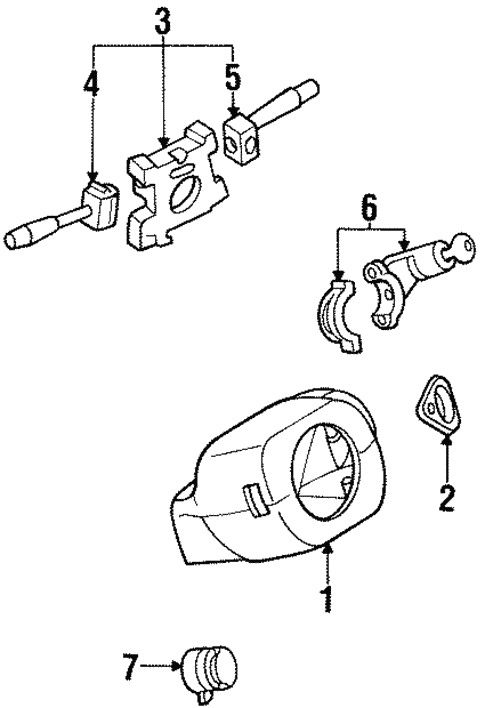 Electrical/Switches for 1997 Nissan Altima #1