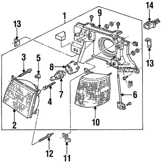 1984 1998 Ford Headlamp Bulb E5ly 13n021 A