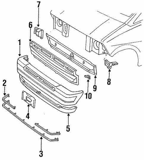 Bumper Assembly for 1987 Ford Aerostar #0