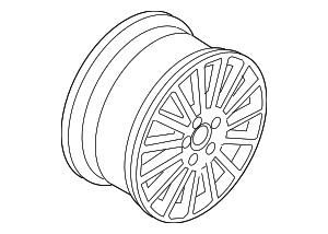 Wheel, Alloy - Volkswagen (3D0-601-025-AC-Z31)