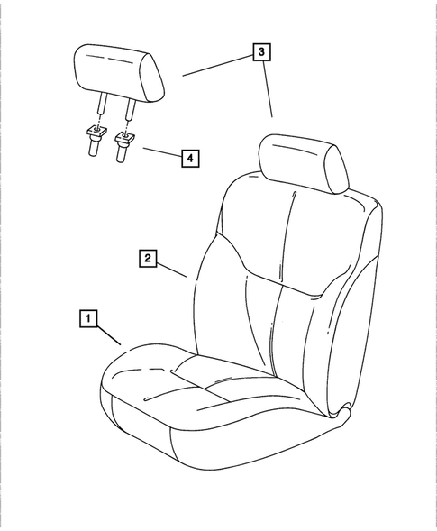 Front Seats for 2002 Dodge Stratus #1