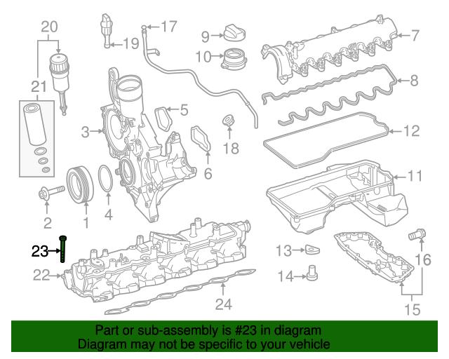mercedes benz intake manifold bolt 000000 007064 rh parts smithmercedesdealer com