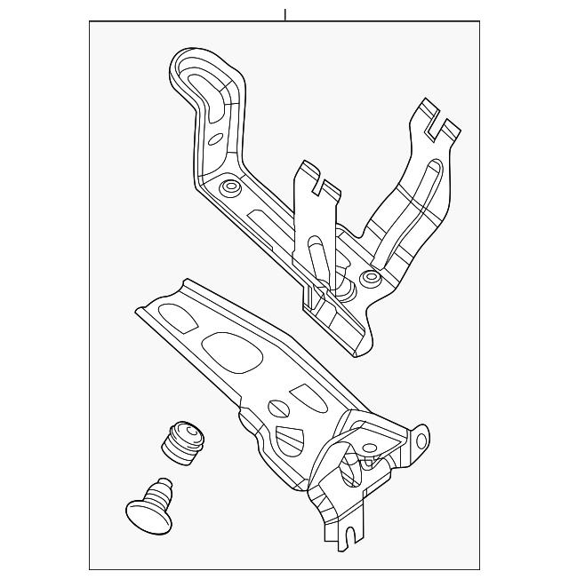 2017-2020 Acura MDX 5-DOOR Bracket Assembly, Tandem Motor