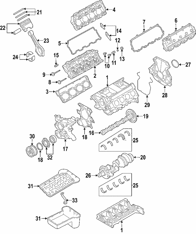 Crankshaft - Ford (3C3Z-6303-AARM)