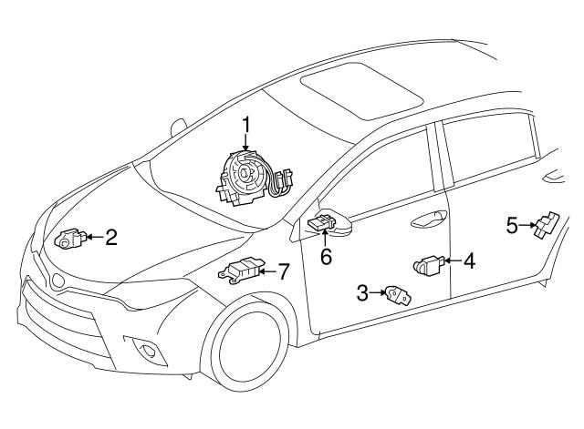 2014 2018 Toyota Side Impact Sens 89831 02200