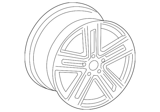 discount genuine oem 2018 audi wheel  alloy 8w0