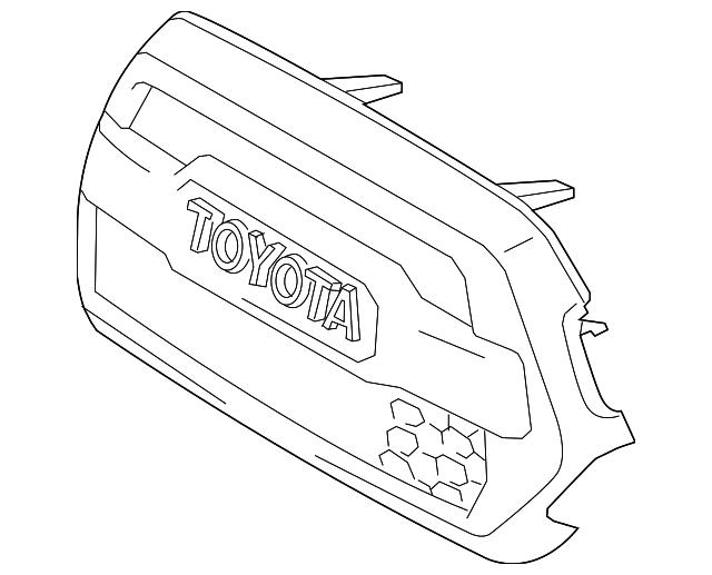 genuine oem upper grille part  53101