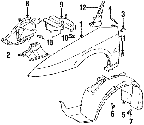 Oem 2002 Saturn Sl2 Fender Components Parts