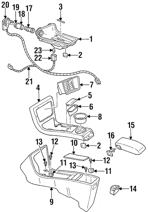 Front Console For 1999 Chevrolet Lumina