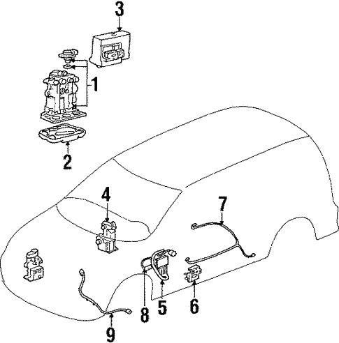 Abs Components For 1998 Pontiac Trans Sport