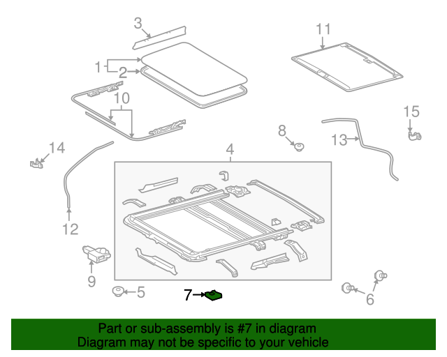 Sunroof Frame Plate