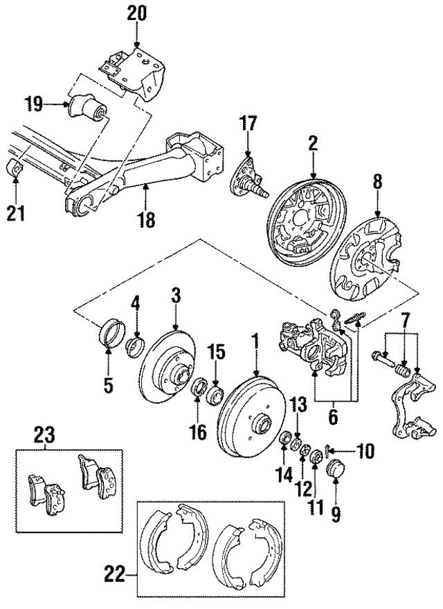 Volkswagen Brake Shoe 6r0 698 520 X