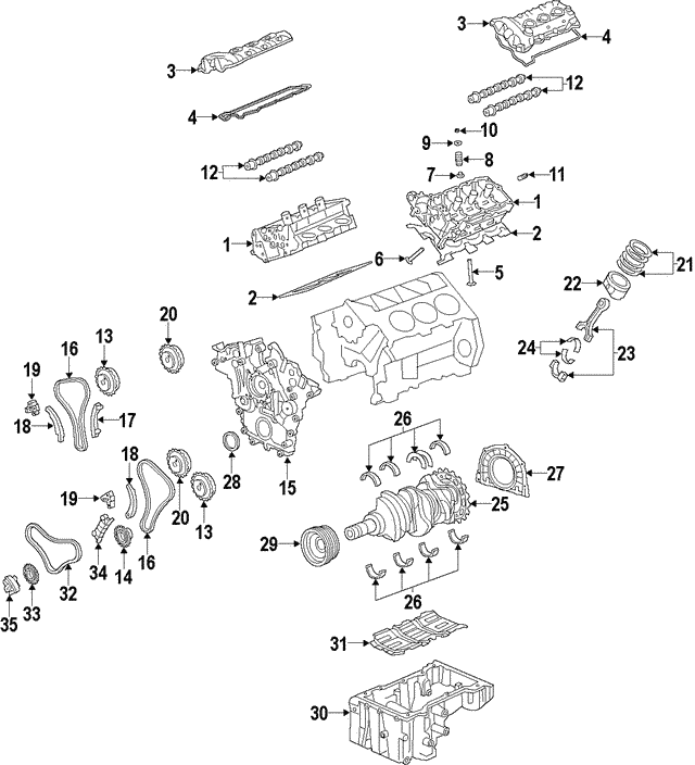 2010-2012 Hyundai Santa Fe Piston Ring Set 23040-3CZA0