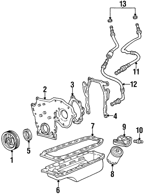 Oem Engine Parts For 1994 Cadillac Deville