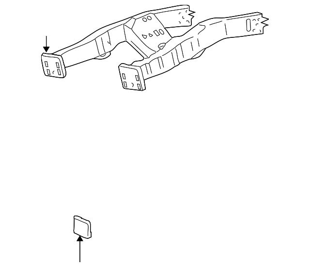 1999 2003 Ford Rail End F81z 5c145 Ab