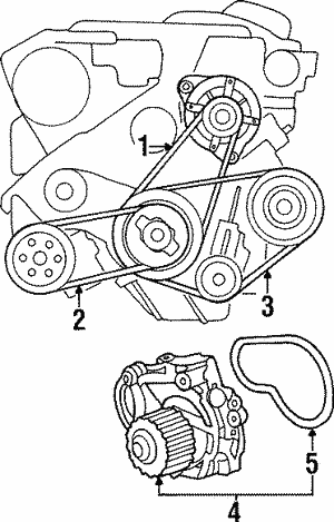 Belt, Alternator (Mitsubishi)