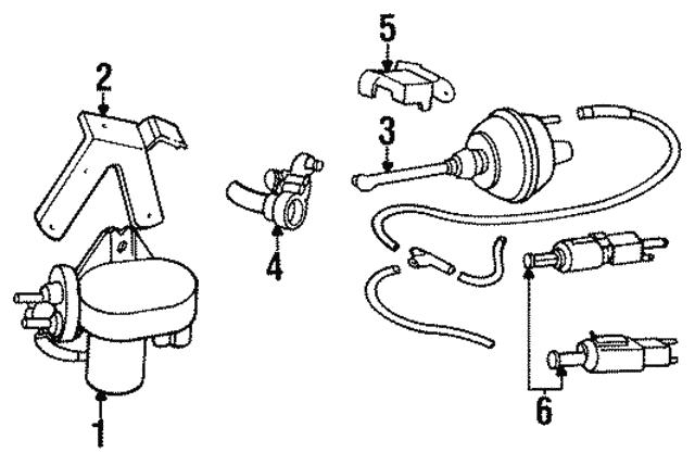 1993 2004 Volvo Vacuum Pump 1390903