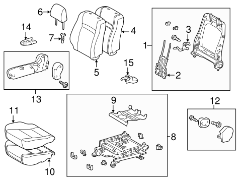 BODY/PASSENGER SEAT COMPONENTS for 2013 Toyota Camry #1