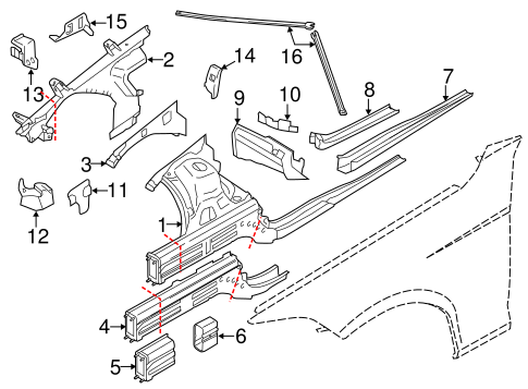 Structural Components Rails For 2015 Bmw X1