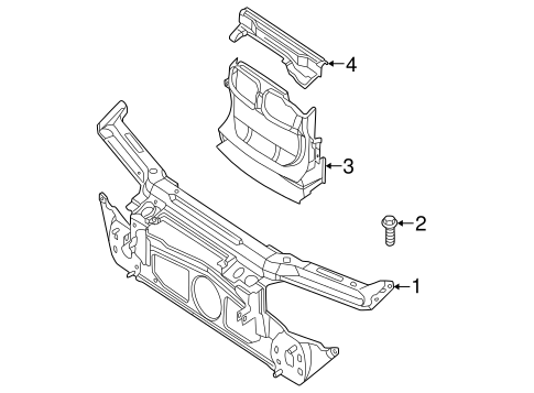 Radiator Support for 2002 BMW 325i #0