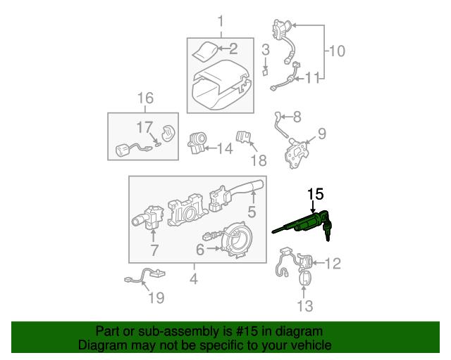 Ignition Lock Cylinder Toyota 89703 41030