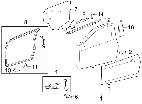 BODY/DOOR & COMPONENTS for 2014 Toyota Yaris #1