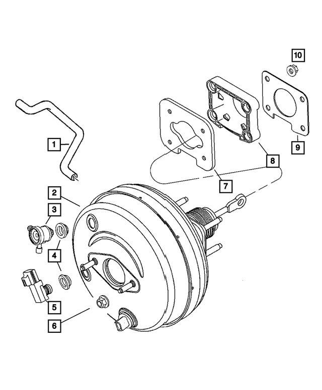 Power Brake Booster - Mopar (68003623AC)