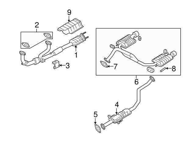 Genuine Hyundai 65113-2D000 Muffler Hanger Mounting Bracket Assembly