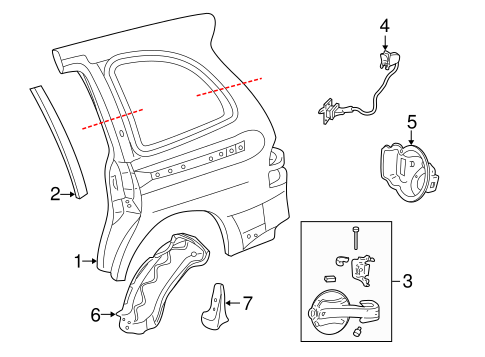 Side Panel Components For 2005 Mercury Monterey