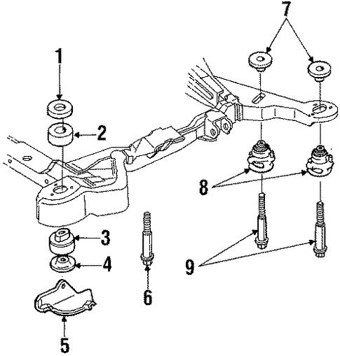 Oem 1989 Buick Riviera Body Mounting Parts Gmpartsonline Net