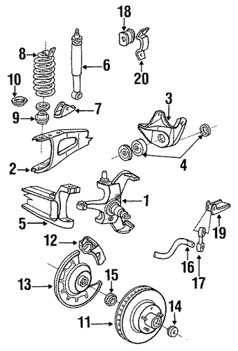 suspension components for 1989 ford f