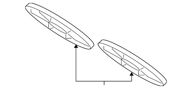 Mazda RF2A-15-140 Engine Cooling Fan Blade