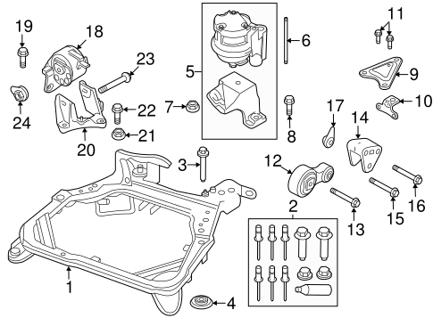 Engine & Trans Mounting for 2011 Ford Fusion | TascaParts.comTasca Parts