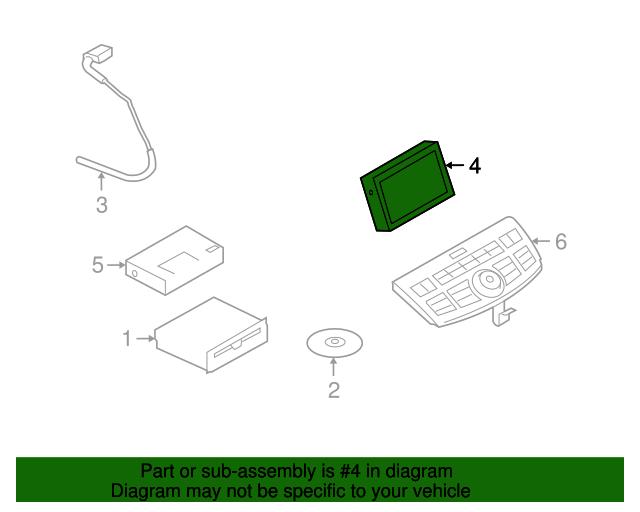 2006 2007 Infiniti M35 M45 Dash Monitor Screen Control Module 28346 EH50A OEM