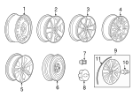 Wheel, Alloy - GM (13367272)