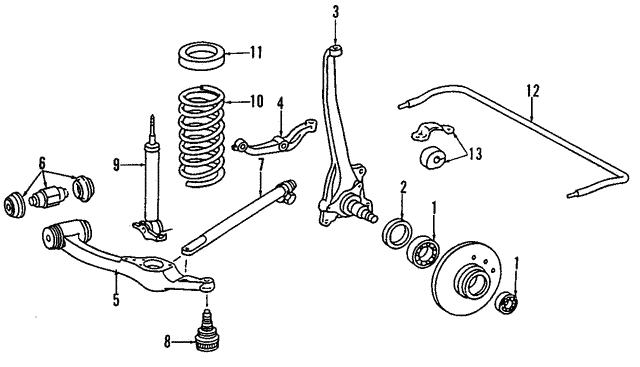 Control Arm - Mercedes-Benz (126-330-19-07)